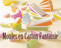 Moules en carton fantaisie
