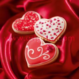 Recette - Sablés Coeurs et Eclats de Rose