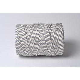 Cordelette Baker's Twine | Bicolore Gris et Blanc - Echeveau 10 m