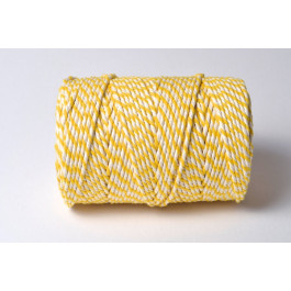 Cordelette Baker's Twine | Bicolore Jaune et Blanc - Echeveau 10 m