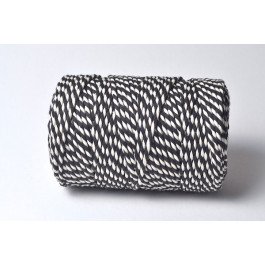 Cordelette Baker's Twine | Bicolore Noire et Blanc - Echeveau 10 m