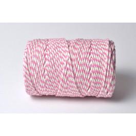 Cordelette Baker's Twine | Bicolore Rose et Blanc - Echeveau 10 m