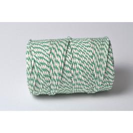 Cordelette Baker's Twine | Bicolore Vert Emeraude et Blanc - Echeveau 10 m