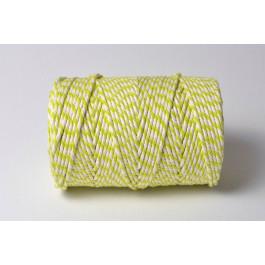 Cordelette Baker's Twine | Bicolore Vert Vif et Blanc - Echeveau 10 m