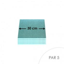 Cartons à entremets - Bleu Pâle - Carrés 30 cm