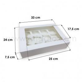 Boîte pour 12 Cupcakes avec Fenêtre