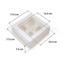 Boîte pour 4 Cupcakes avec Fenêtre