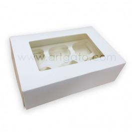 Boîte pour 6 Cupcakes avec Fenêtre