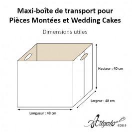 1 Maxi-boîte de Transport pour Pièce Montée - Dimensions