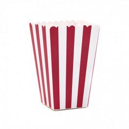 6 Boîtes à Popcorn | Rayées Rouge et Blanc