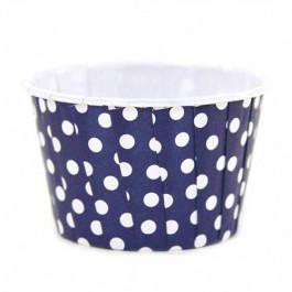 6 Caissettes Friandises (Nut Cups) | Bleu Nuit à pois