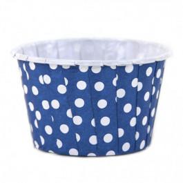 6 Caissettes Friandises (Nut Cups) | Bleu Roi à pois
