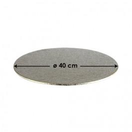 Cartons à Entremets - Argent - Ronds 3 mm - 40 cm