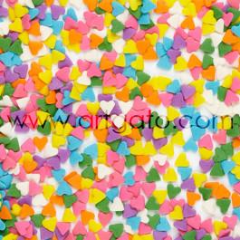 Confettis en Sucre - Coeurs Multicolores