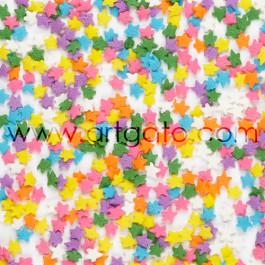 Confettis en Sucre - Étoiles Multicolores