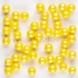 Perles de Sucre Nacrées - Jaune