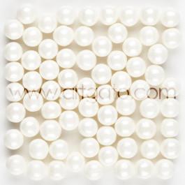Perles de Sucre Nacrées Blanches