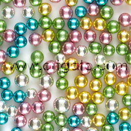 Perles en Sucre - Multicolores - 7,5mm