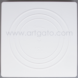 2 Assiettes CARREES Blanches - 30 x 30 cm