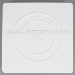 2 Assiettes CARREES Blanches - 20 x 20 cm