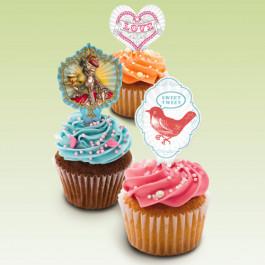 Décors Cupcakes Studio Oh® | 12 Piques Décors Hip Hip