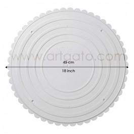 2 Assiettes RONDES Blanches Ø 45 cm