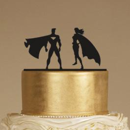 Décors Ombre Chinoise - Couple Super Héros