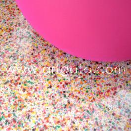 Idée Déco - Sol en Résine avec Inclusions de Confettis