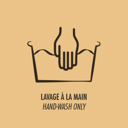 Lavage à la main uniquement