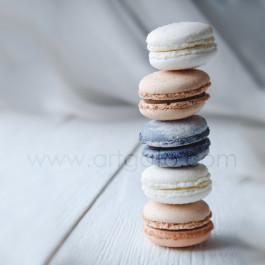 Macaron avec Colorant Poudre Blanc