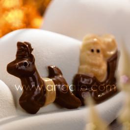 Chocopiques Père Noël sur Traineau et Renne - Par 5