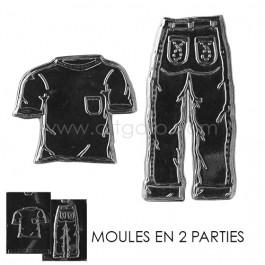 Moule Chocolat - Jean et T-shirt