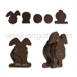Réalisation : Moule Chocolat - Lapin à assembler