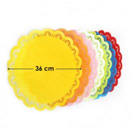 4 Dentelles Pâtissières | Rondes Blanches Ø 36 cm
