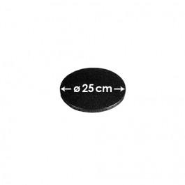 Cartons à entremets - Noir - Ronds 25 cm