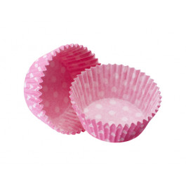 Caissettes Cupcakes – Taille Standard | Roses à pois blancs