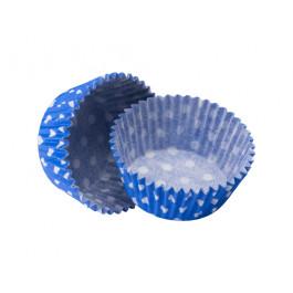 Caissettes Cupcakes – Taille Standard   Bleu Roi à pois blancs