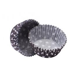 Caissettes Cupcakes – Taille Standard | Noires à pois blancs