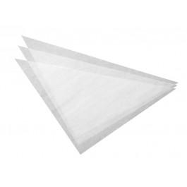 100 Triangles en Papier Sulfurisé - 38 cm