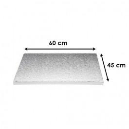Argent - Rectangulaire 12 mm / 60 x 45 cm