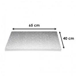 Argent - Rectangulaire 12 mm / 65 x 40 cm