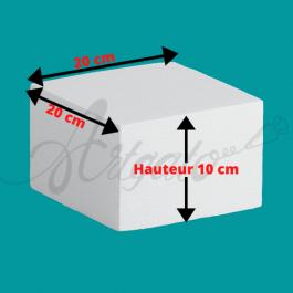 Base polystyrène Carrée Hauteur 10 cm Côtés 20 cm