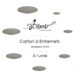 Cartons à Entremets - Argent - Ronds 3 mm