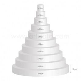 Pyramide de Socles Ronds 10 cm Hauteur