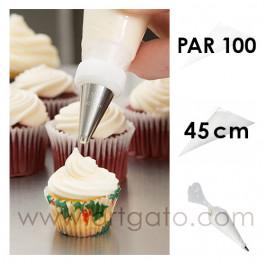 Poches à douille Jetables 45 cm - Par 100