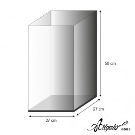 Vitrine | Haut. 50 cm - 27 x 27 cm