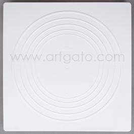 2 Assiettes CARREES Blanches - 40 x 40 cm