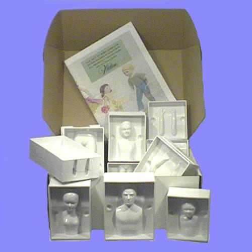moules modelage plastique personnages jeu de 4 femme homme enfants 10 et 5 ans artgato. Black Bedroom Furniture Sets. Home Design Ideas