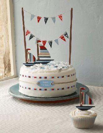 kit de décor de gâteaux, voilier - artgato