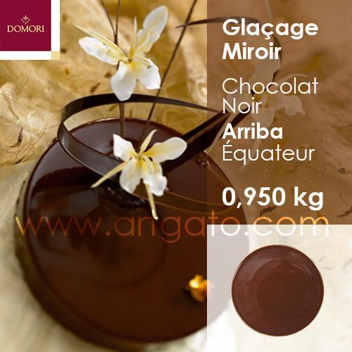 glacage miroir domori chocolat noir artgato. Black Bedroom Furniture Sets. Home Design Ideas